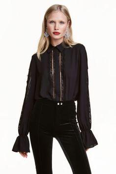 Bluză cu detalii din dantelă | H&M