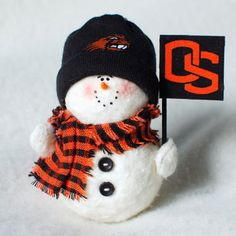 Oregon State Beavers Snowman Ornament by KarensSnowmen on Etsy, $13.00
