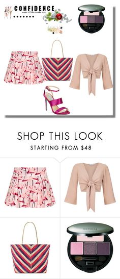 """""""set with apricot top 2"""" by queenofthesnow ❤ liked on Polyvore featuring RED Valentino, Olympiah, Banago, Kanebo, Betsey Johnson and Superga"""
