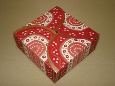 Red Small Square Box - made up  (47)