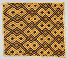 Africa | Raffia pile cloth from the Shoowa people ~ Democratic Republic of the Congo, Southern Congo, Kasai River area | ca. 1975 | Raffia; cut pile stitch.