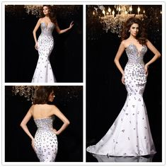 Sexy sweet heart evening dress for party  #blingbing