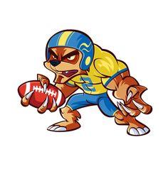www.mascotize.com  #rugby #soccer #mascot #football #cartoon #sport