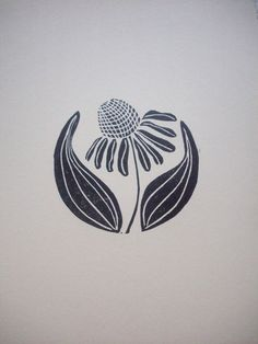 PrintsCone Flower or Echinacea in the Round by LorenzKraft on Etsy