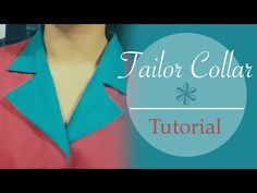 Tailor collar / Notched collar - tutorial, patterns, cutting, stitching- Cloud Factory - YouTube