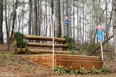 Jump with bank, luv this could also work with trail trials but lower jump.  cross country jumps, Greg Schlappi Cross Country Jumps Landrum, SC Banks & Ditches