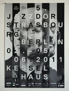 vision strips, letter overlay,  cross weave