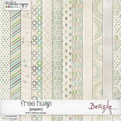 FREE HUGS | papers by Bellisae Designs