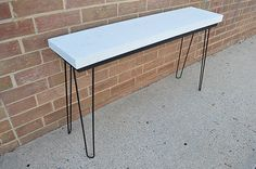 Concrete and Steel Table by ThirdAveLabs on Etsy
