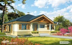 Casa la parter Harold Blue Roof, Blue Bedroom, Home Fashion, Shed, Floor Plans, Outdoor Structures, Mansions, Country, House Styles