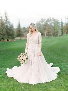 Beaded Long Sleeve Hayley Paige Wedding Dress