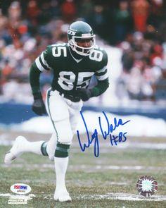 Wesley Walker Autographed 8x10 Photo Jets PSA/DNA
