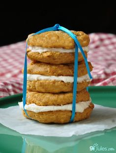 gluten free Little Debbie cookie stack with bow - gfJules