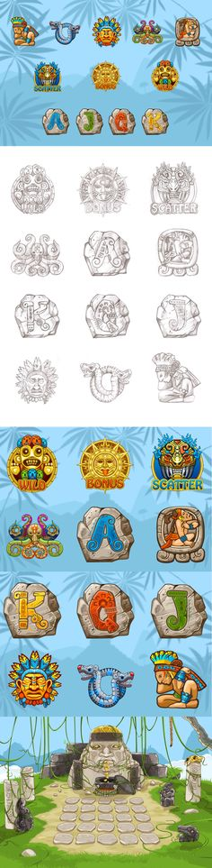 "Development of graphic design for the game slot-machine ""Aztec"""