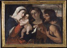 """""""Madonna con bambino, Santa Caterina D'Alessandria, San Giovanni Battista"""", opera attribuita a Bernardino Licinio (e bottega) veneziano (ca 1495-1549)"""
