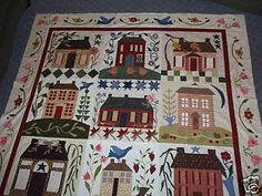 Home Sweet Home apliqued quilt