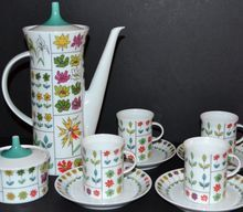 Emilio Pucci ~ Rosenthal ~ 12-Pc Coffee Pot & Demitasse Cup Set from Kitsch & Couture on Ruby Lane