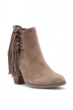 Suede fringe booties | Vince Camuto Harlin