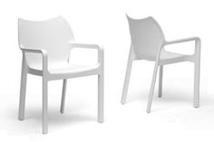 Baxton Studio Limerick White Plastic Stackable Modern Dining Chair (Set of 2) Baxton Studio Limerick White Plastic Stackable Modern Dining Chair (Set of 2), wholesale furniture, restaurant furniture, hotel furniture, commercial furniture