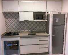 Discover recipes, home ideas, style inspiration and other ideas to try. Studio Kitchen, Home Decor Kitchen, Kitchen Furniture, Kitchen Interior, Basement Apartment, Kitchenette, Small Spaces, Sweet Home, Kitchen Cabinets