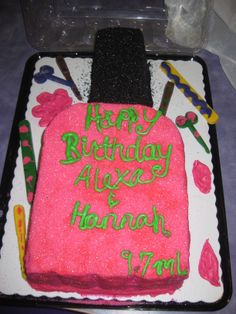 Jeeras 8th birthday cake Spa theme Lexi spa party Pinterest