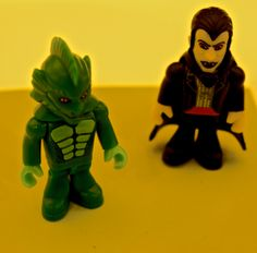 Lagoon creature and Vampire. #Famoclick #Monsters #Zombies #toys #juguetes