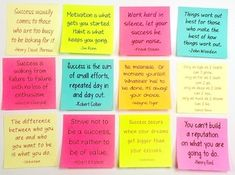 Motivation and Success Quotes on Sticky Notes by Kirsten's Kaboodle 365 Note Jar, Jar Of Notes, 365 Jar, Notes For Friends, Affirmations For Happiness, Letters To Boyfriend, Happy Jar, Cute Notes, Kindness Quotes