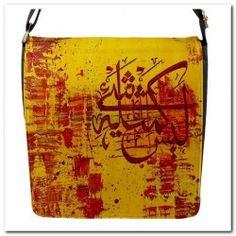 Shopping Center, Metal Walls, Allah, Messenger Bag, Closure, Stickers, Yellow, Bags, Handbags