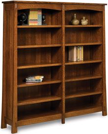 Amish Outlet Store : Modesto Double Bookcase in Oak
