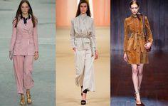 El ante es el tejido de la temporada así las prendas oversize de corte masculino. #tendencias #moda #tendenciasdemoda #primavera2105