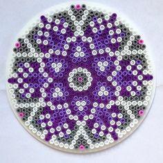 Mandala hama perler beads by knitirene Pixel Beads, Fuse Beads, Pearler Beads, Fuse Bead Patterns, Perler Patterns, Beading Patterns, Christmas Perler Beads, Hama Beads Design, Iron Beads