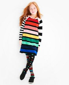 Girls Colorwheel Sweater Dress by Hanna Andersson
