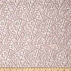Silky Lace Geo Antique Blush from @fabricdotcom  Delicate and classic, this lace fabric is soft, silky, sheer, lightweight and has 15% mechanical stretch across the grain. This lace fabric is appropriate for lingerie, overlays on skirts or dresses, feminine apparel accents, and wraps or shrugs.