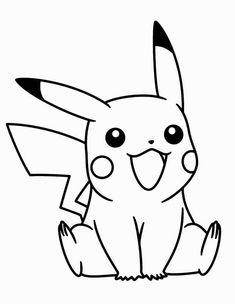 Little Pikachu Pokemon Coloring Pages . - Little Pikachu Pokemon Coloring Pages - Pikachu Coloring Page, Pokemon Coloring Pages, Cute Coloring Pages, Cartoon Coloring Pages, Coloring Books, Adult Coloring, Stitch Coloring Pages, Disney Drawings, Cartoon Drawings