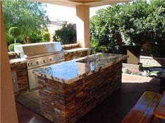 Granite Countertops Grill Outdoor Kitchen White Liances Laundry
