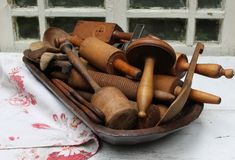 I have the bowl..my mom's rolling pins...now I just need to collect some more cool wooden stuff...