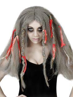 Blutige Zombie-Perücke Dreads grau-rot. Aus der Kategorie Perücken Shop / Halloween Perücken. Die Hippie-Bewegung wird niemals sterben! Den Beweis dafür treten Sie mit dieser Hippie-Perücke für Zombie-Kostüme an!