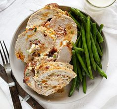 Jalapeno Popper Pork Loin is stuffed with bacon, jalapenos, and cheese, plus filled with protein! #jalapenopopperporkloin #jalapenopoppers #porkloin #pork #dinnerrecipes #protein #iambaker #stuffedpork Other Meat Recipes, Pork Recipes, Keto Recipes, Dinner Recipes, Cooking Recipes, Pork Loin, Pork Roast, 5 2 Diet, I Am Baker