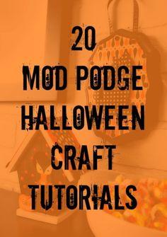 20 Mod Podge Halloween craft tutorials