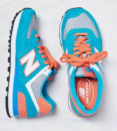 Blue New Balance Colorblocked Sneaker