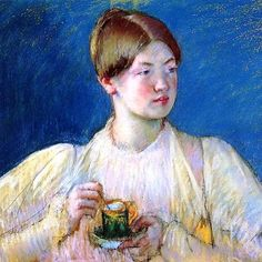 "Mary Cassatt ""The Cup of Tea I"" – 1897, pastel on tan wove paper"
