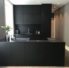 20 Elegant Black Kitchen Design Ideas You Need To Try Black Kitchen Cabinets black Design Elegant ideas kitchen Black Kitchen Cabinets, Kitchen Cabinet Design, Black Kitchens, Ikea Kitchen, Modern Kitchen Design, Interior Design Kitchen, Kitchen Furniture, Kitchen Ideas, Kitchen Decor