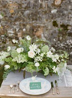 Irish Coastal Outdoor Wedding Ideas, love the style on handwritten name tags