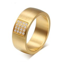 7e2a8952de39 Domineering Gold Diamond Ring. Wedding Rings For WomenWedding ...