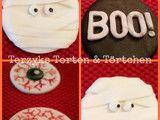 Cupcaketopper Halloween Fonsant Eye Mumie Boo!