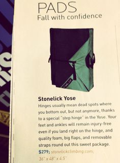 Stonelick Yose: Fall with confidence