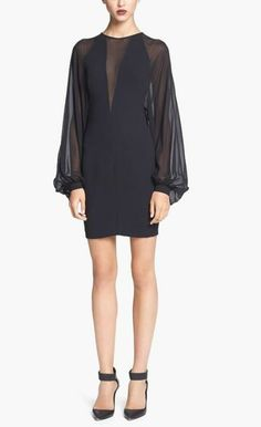 Gorgeous, Robert Rodriguez Black Illusion Dress