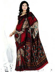Stunning Art Silk Saree http://www.bharatplaza.com/womens-wear/sarees/traditional-saree.html