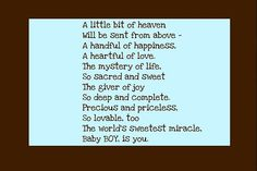 Sweet little boy poem.