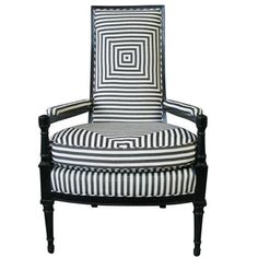 French 1930's armchair -- could reupholster with a similar fabric